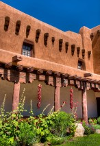 The Art Museum Courtyard - Santa Fe, NM