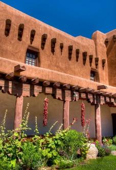 The Art Museum Courtyard - Santa Fe, NM