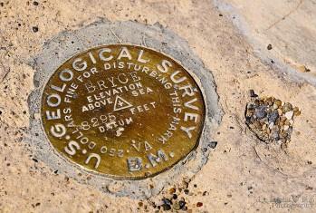 USGS Marker - Bryce Canyon National Park - Utah