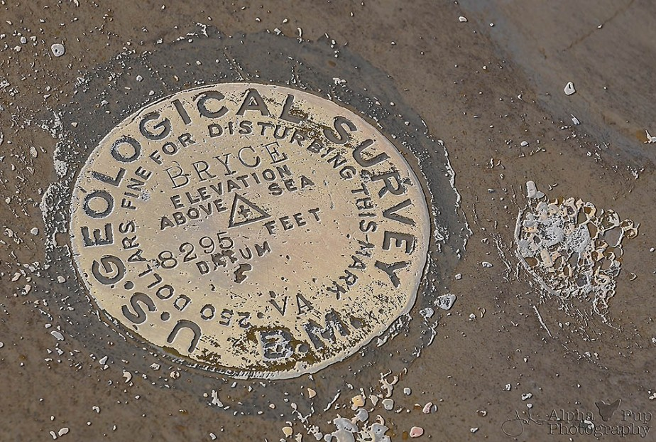 Bryce Canyon US Geological Survey Marker - Utah