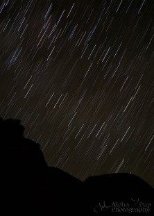 Trails at Night - Chaco Canyon National Historic Park - New Mexico