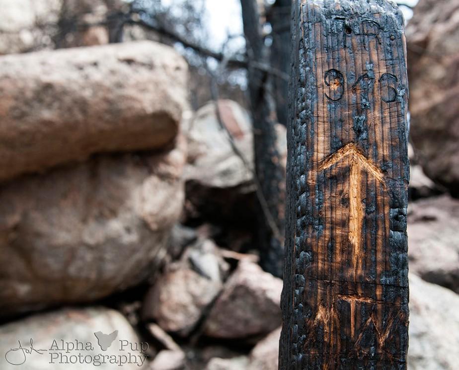 Fire Marker - Greyrock Trail - Colorado