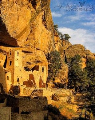 Cliff Palace Sunset - Mesa Verde National Park - Colorado