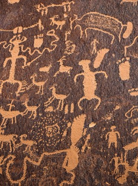 Newspaper Rock Detail - Utah