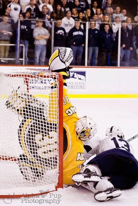 Penn State vs. American International College - Opening Night Men's Varsity Ice Hockey - Acrobatic Save