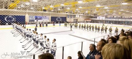 Penn State vs. American International College - Opening Night Men's Varsity Ice Hockey - National Anthem