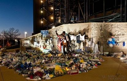 Sunrise at the Joe Paterno Statue, Days After His Funeral