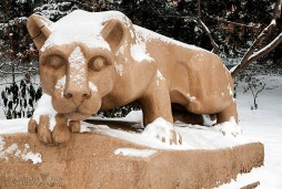 Snowy Nittany Lion Shrine