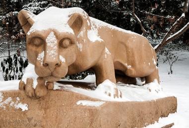 Snowy Nittany Lion Shrine