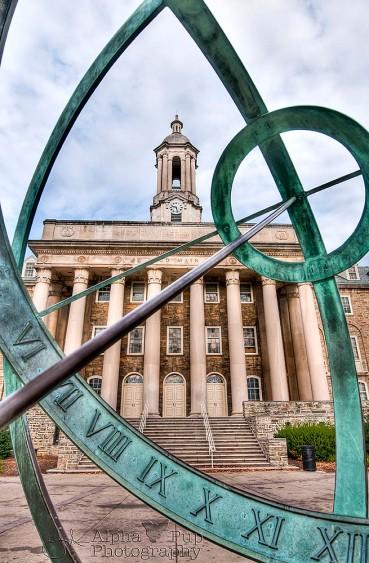 Penn State - Old Main Through the Sundial