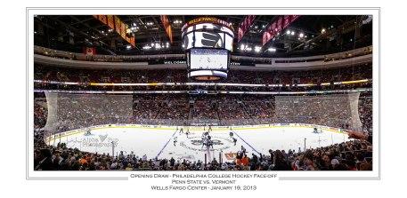 Opening Draw - Philadelphia College Hockey Faceoff - Penn State vs. Vermont