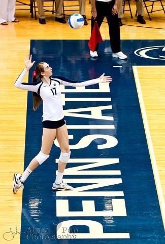 Penn State vs. Indiana University - Women's Volleyball - Megan Courtney to Serve