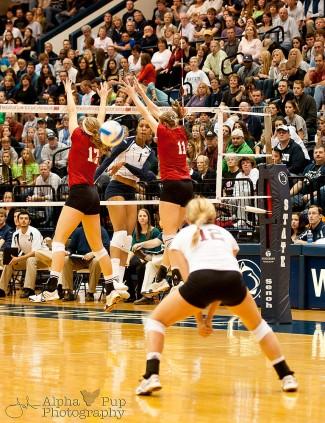 Penn State vs. Indiana University - Women's Volleyball - Ariel Scott with the Kill