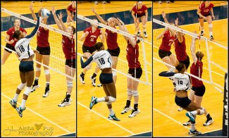 Penn State Women's Volleyball - Deja McClendon with the Kill