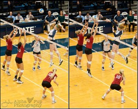 Penn State Women's Volleyball - Katie Slay with the Kill