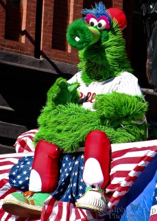 Phillie Phanatic - Celebrating at the 2008 World Series Parade