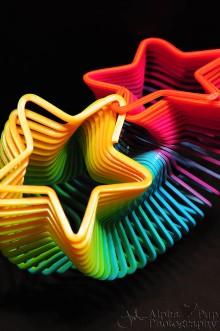 Rainbow Star Slinky Toy