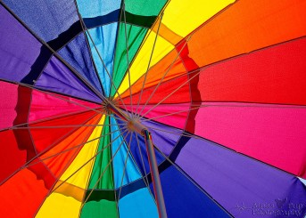 Rainbow Umbrella - Farmer's Market in Golden, CO