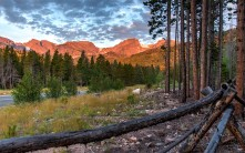 Mountain Sunrise Fire