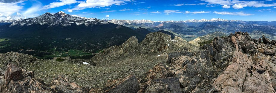 Rocky Mountain National Park from Twin Sisters