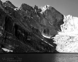 Longs Peak at Chasm Lake