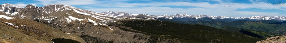 Continental Divide Pano from Mt. Goliath