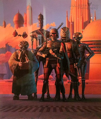Bounty Hunters Production Painting