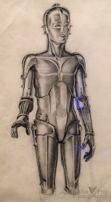 Early C-3PO Concept Sketch - A New Hope
