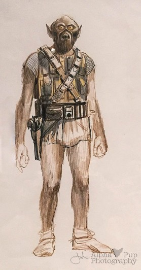 Early Chewbacca Concept Art - A New Hope