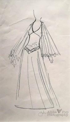 Princess Leia's Gown - Concept Art