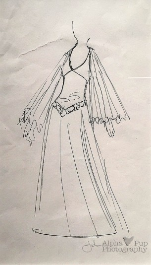 Princess Leia's Gown - Concept Art