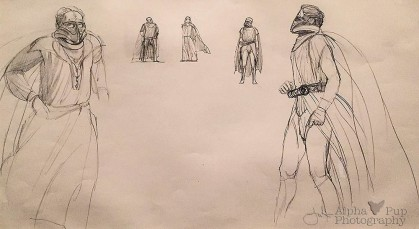Early Darth Vader Concept Sketches - A New Hope