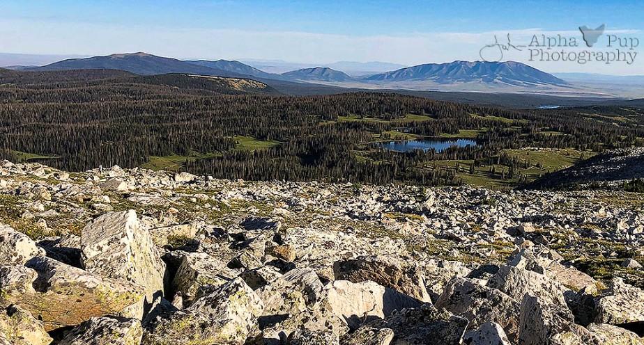 Western View Heading to Medicine Bow Peak